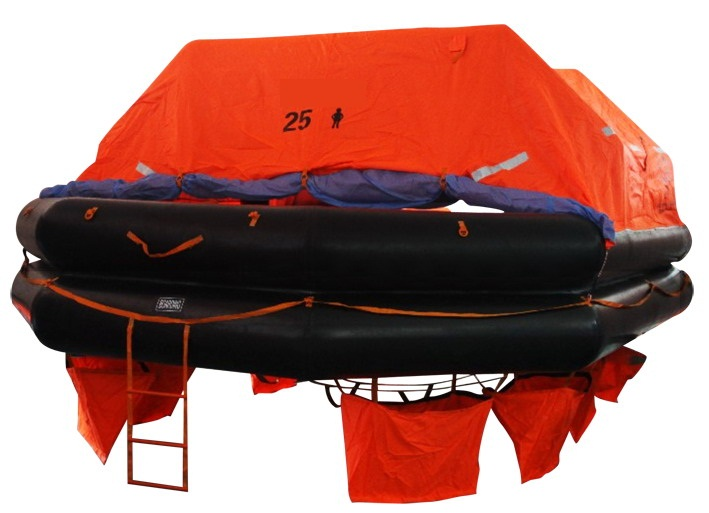 Solas Approved Life Rafts with 25 Persons Throw Over Board Inflatable Liferafts with Gl Class Approval Certificate