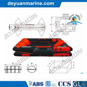Gl Approved 6 Man Open-Reversible Inflatable Liferaft