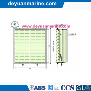 Marine Shutter with Air-Water Separator