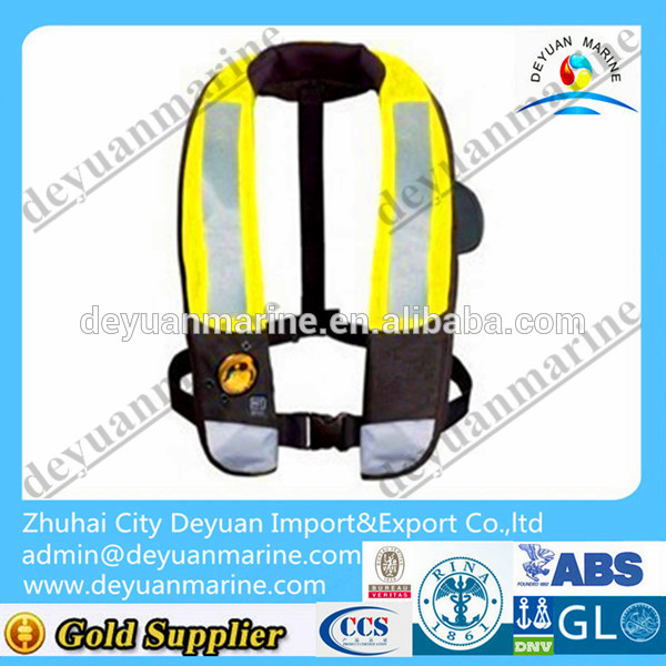 Marine automatic inflatable life jacket