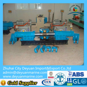 Double rudder hydraulic steering gear for ship