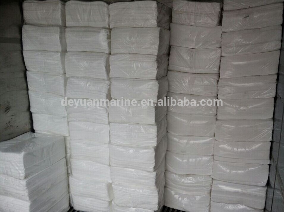 2 MM - 5 MM High Quality White Oil Absorbent Pads Cloth Paper For Sale