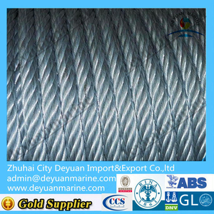 Galvanized steel wire lifeboat fall wire with CCS approved