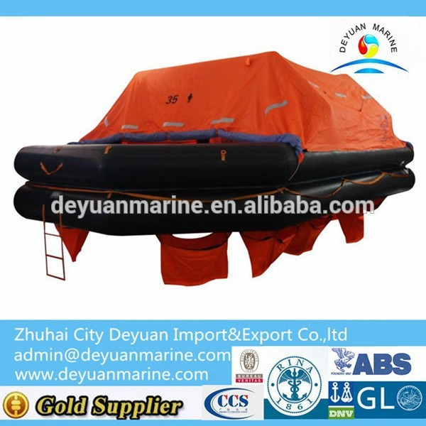 35 Man Throw Over Board Life raft With CCS/EC Certificate