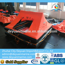 10 Man Throw-overboard Yacht Infatable Life raft with good quality