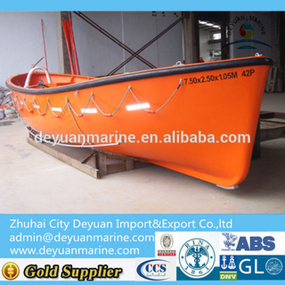 SOLAS Approval Marine Fiberglass Open Type Lifeboat for Sale