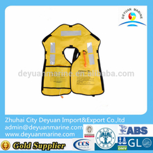 Nylon automatic /manual inflatable life jackets