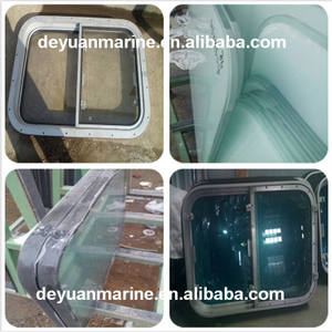 Marine Aluminum Fixed Rectangular Window for Wheelhouse with Electrically Heating Glass