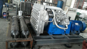 Three Cylinders Air Cooling Marine Air Compressor