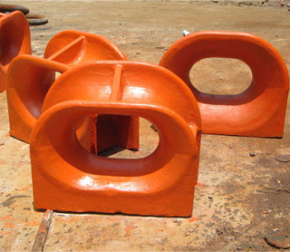 Boat use ship use Cast steel triangle type chock