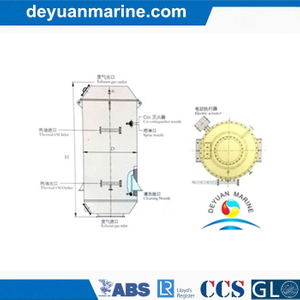 Marine Oil-Fired Exhaust-Gas Composite Boiler